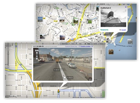 google maps earth street view traffic trafico
