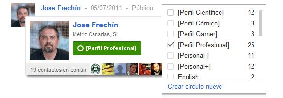 Google Plus (Google+): Usuario o contacto