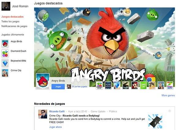 Google Plus (Google+): Google Games. Juegos de Google+.