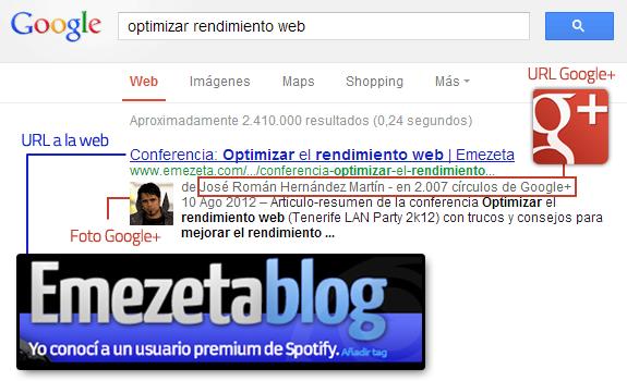 Guía de posicionamiento en Google: Microformatos. Mi foto en los resultados de búsqueda de Google