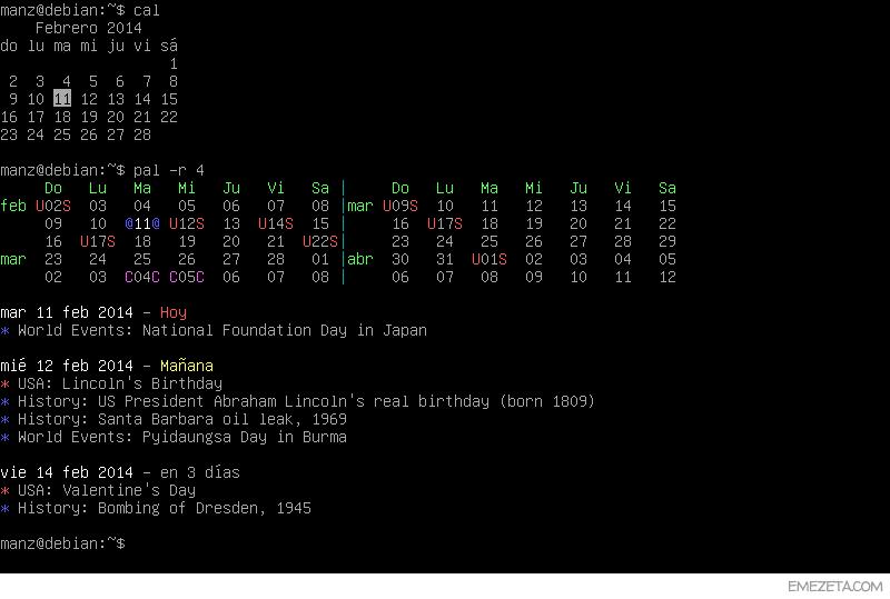 Pal: calendario mejorado de GNU/Linux