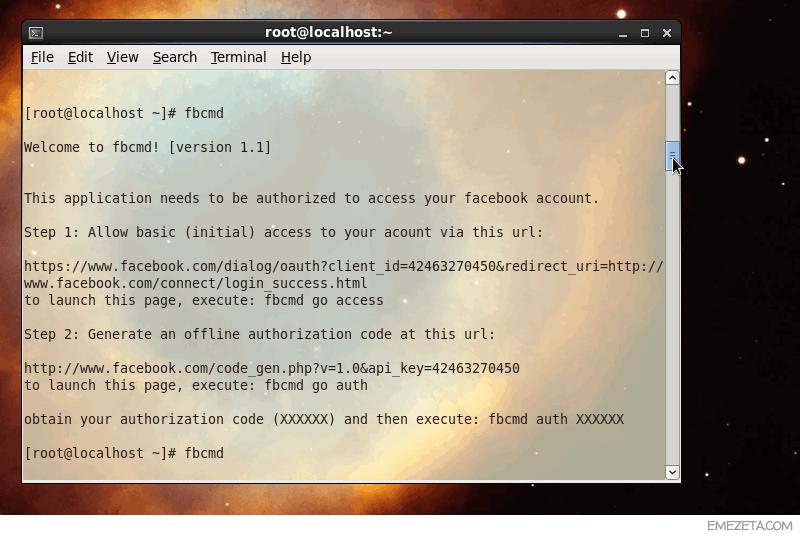 FBCmd: Facebook para la línea de comandos de tu terminal de Linux