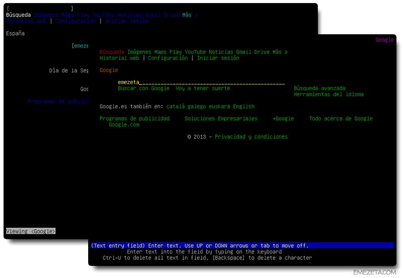 Programas para terminal Linux: Lynx w3m