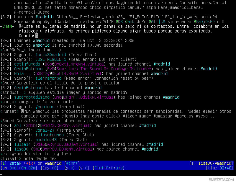 ScrollZ: Cliente de IRC basado en terminal para Linux