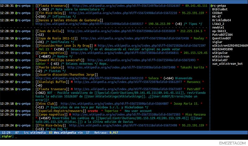 Weechat: Cliente de IRC para la terminal de Linux