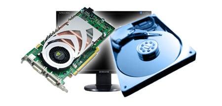 hardware disco duro tarjeta grafica monitor tft