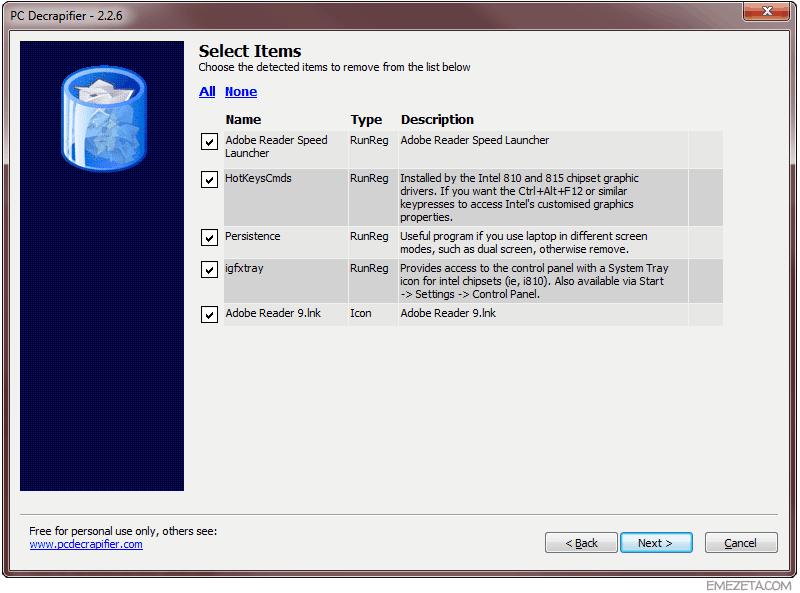 Herramientas para administradores de sistemas: PC Decrapifier
