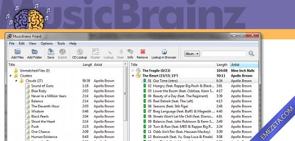 Identificar canciones: Music brainz