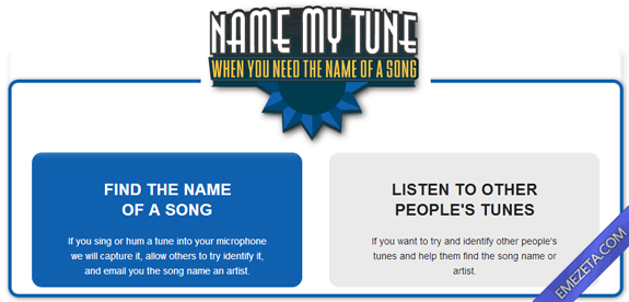 Identificar canciones: Name my tune
