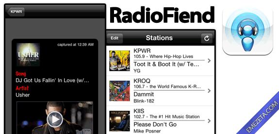 Identificar canciones: Radiofiend