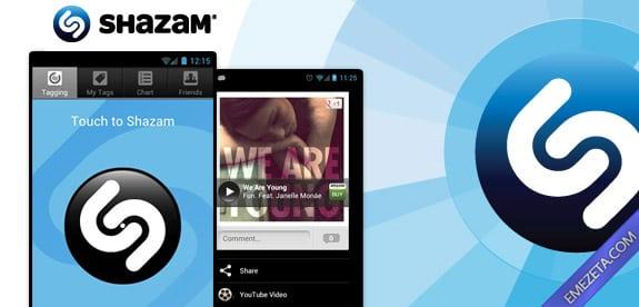 Identificar canciones: Shazam