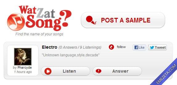 Identificar canciones: Wat zat song