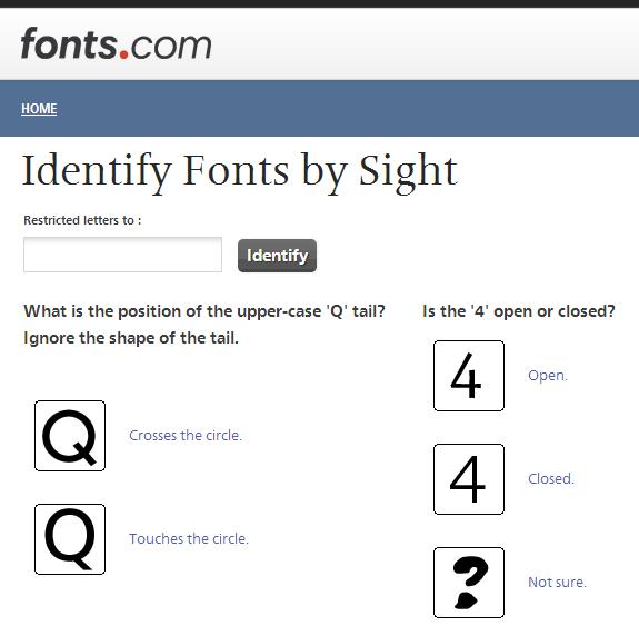 Identify Fonts: Servicio para encontrar un tipo de letra mediante preguntas