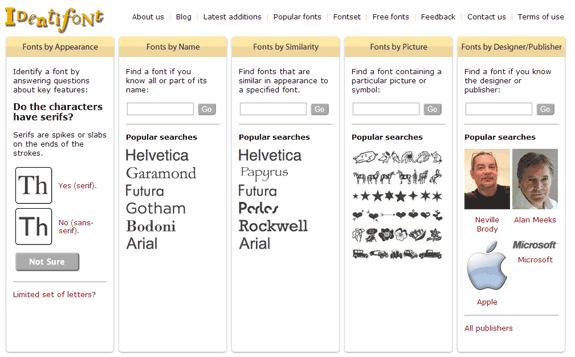IdentiFont: Buscar fuentes por apariencia, nombre, similitud, símbolo o autor
