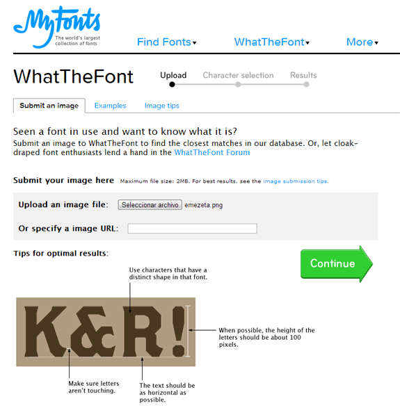 WhatTheFont: Servicio para encontrar fuentes con una imagen