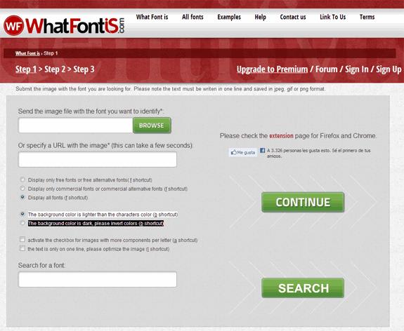 WhatFontIs: Servicio de identificación de tipografías de forma visual