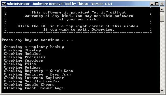 Junkware Removal Tool: Herramienta para eliminar de una vez las barras de navegación y otro tipo de malware