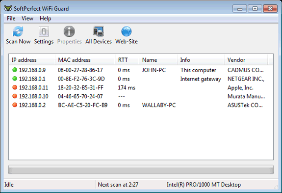 SoftPerfect Wifi Guard: Buscar intrusos en mi WiFi