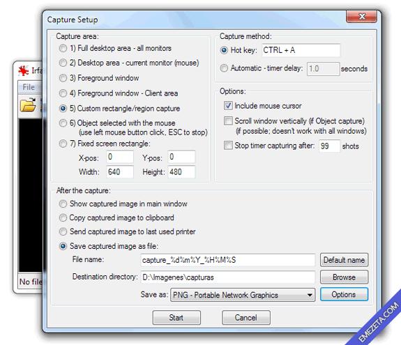 Editar imágenes con IrfanView: Capturar pantalla