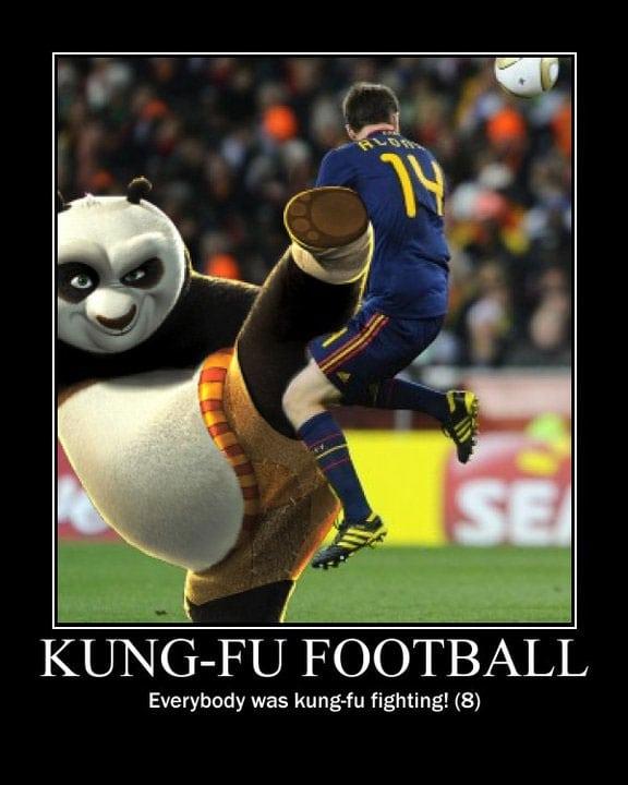 nigel de jong xabi alonso kung fu fighting karate kid kung fu panda