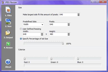 jpeg-resizer size ficheros reducir fotos