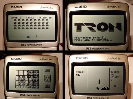 juegos casio fx 9860g calculadora