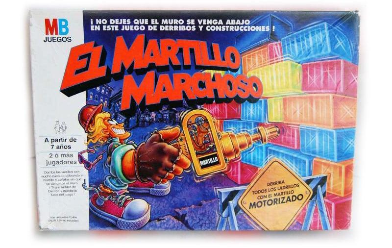 Martillo Marchoso: Versión moderna de Jenga, con colores y un martillo neumático