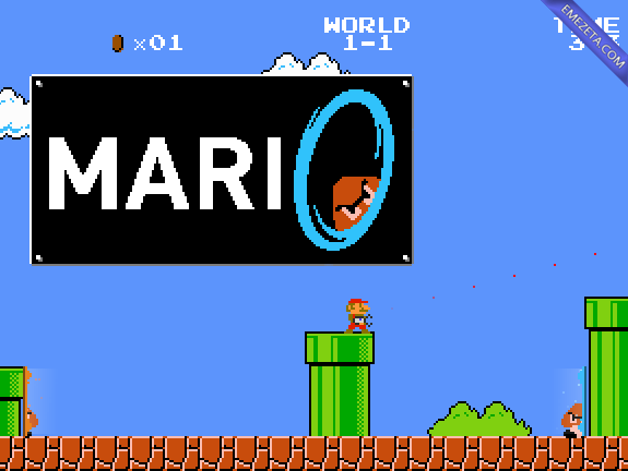 Juegos open source: Mari0 (Super Mario Bros + Portal)
