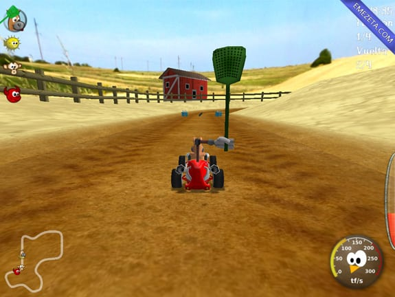 Supertuxkart, juego open source clon de Super Mario Kart