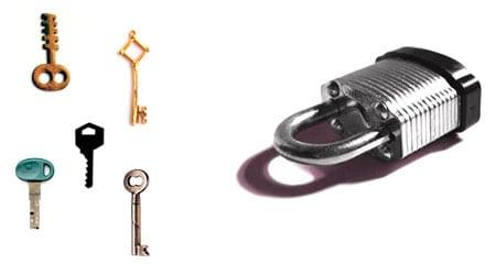 key llave lock candado