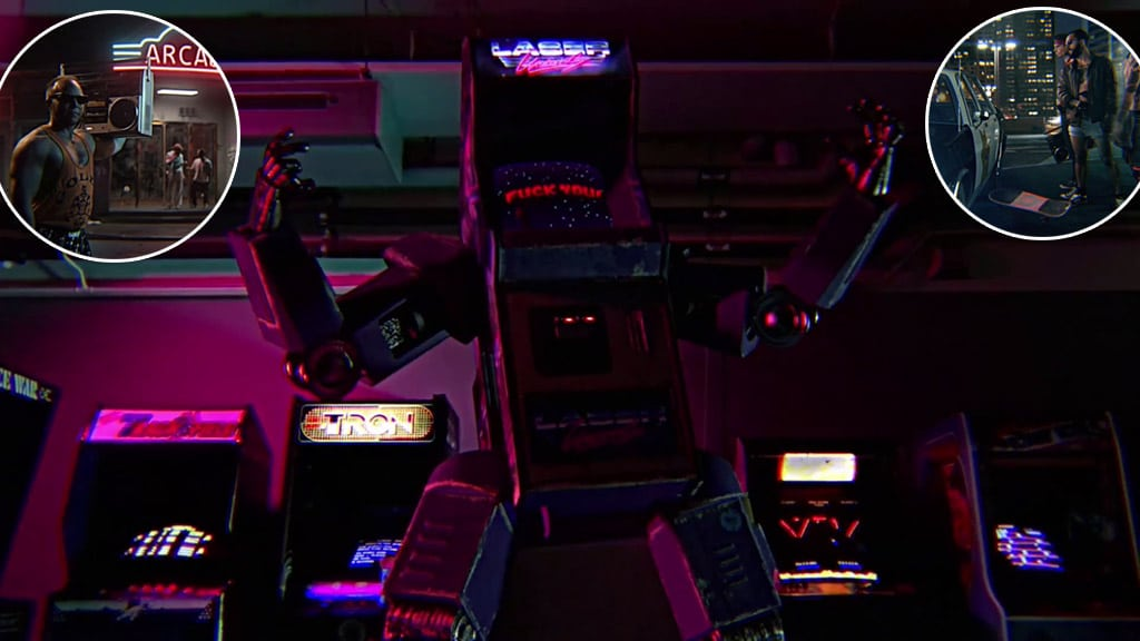 Máquina Arcade malvada de Laser Unicorns