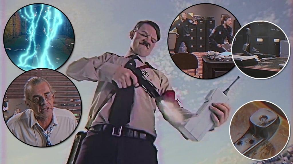 Kung Führer disparando a un Motorola DynaTAC