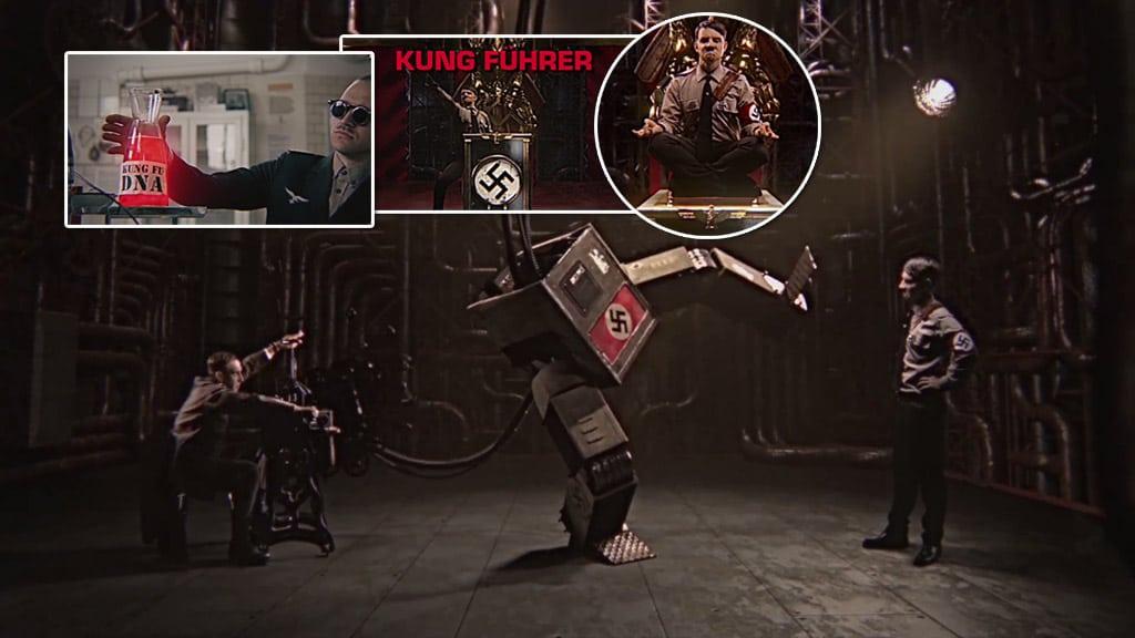 Kung Führer intentando dominar el arte del Kung Fu