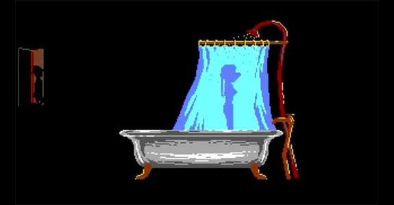 laura bow ducha baño alfred psicosis