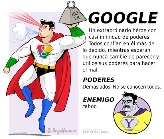 Superhéroes. Liga Justicia Internet: Google (Superman)