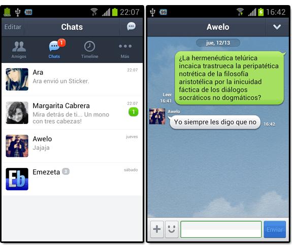 Line (el nuevo WhatsApp): Line chats