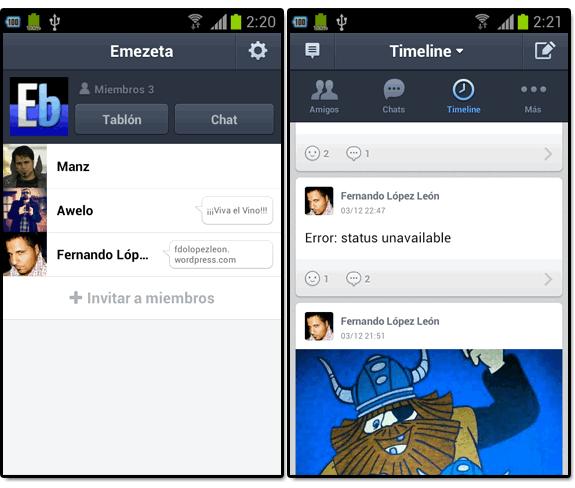 Line (el nuevo WhatsApp): Line grupos timeline