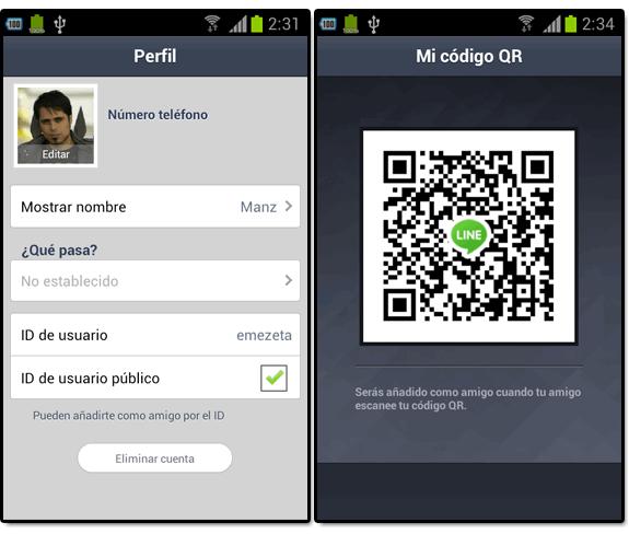 Line (el nuevo WhatsApp): Line id codigo qr