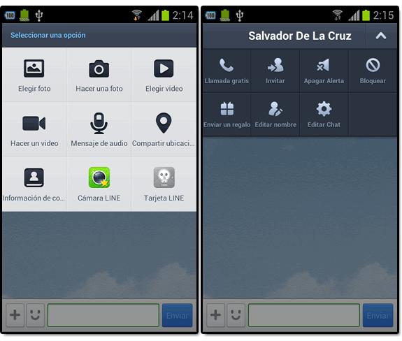 Line (el nuevo WhatsApp): Line opciones acciones