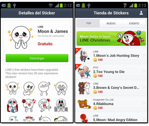 Line (el nuevo WhatsApp): Line stickers