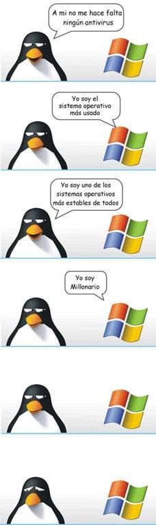 linux versus vs windows tux microsoft