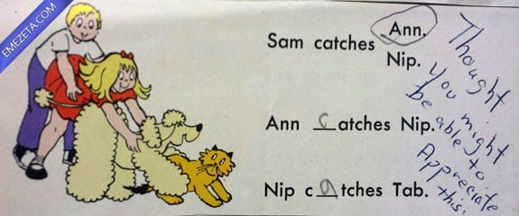 Libros con malinterpretaciones involuntarias: Sam, Ann, Nip y Tab