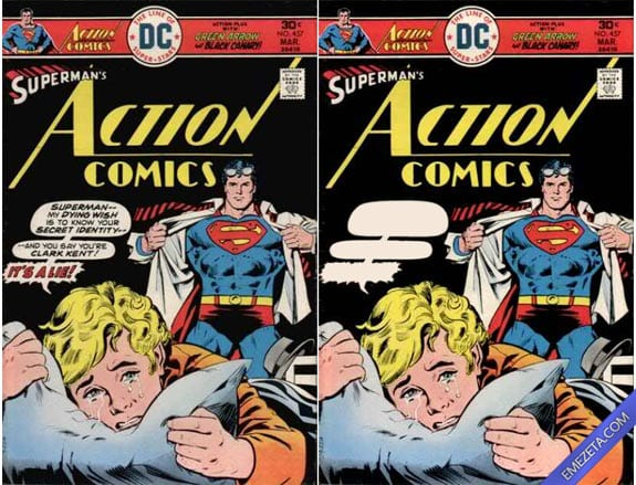 Libros con malinterpretaciones involuntarias: La gran portada de Superman (comic)