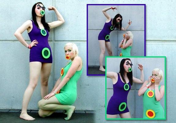 maniac mansion cosplay tentaculo purpura tentaculo verde