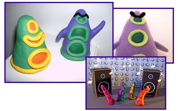 maniac mansion figuras peluches tentaculo purpura verde green tentacle purple