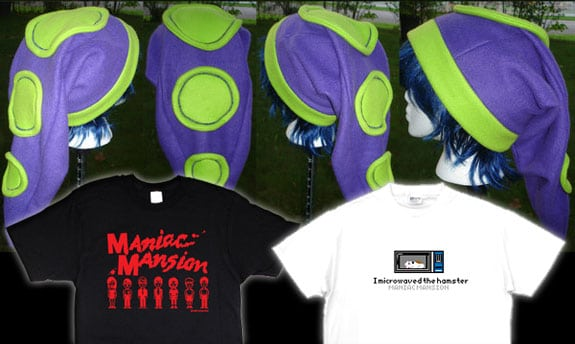 maniac mansion gorro camisetas
