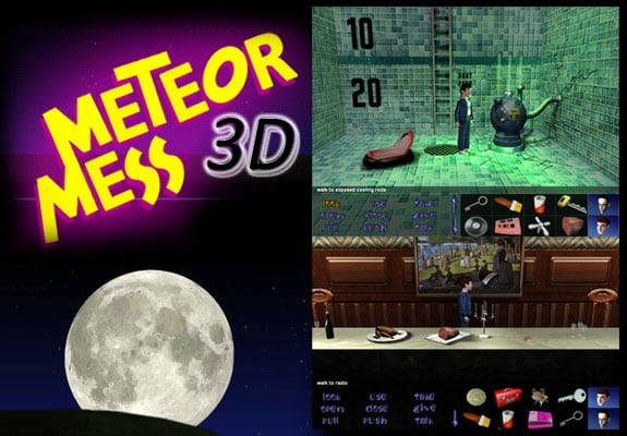 maniac mansion meteor mess 3D