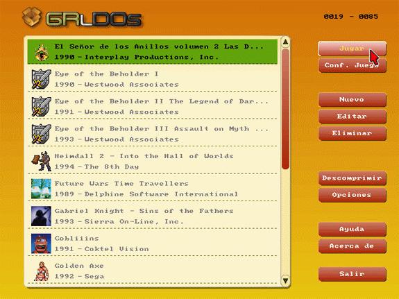 GR-Lida: Frontend para ScummVM, DOSBox y VDMSound