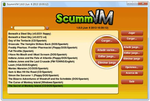 Launcher de ScummVM