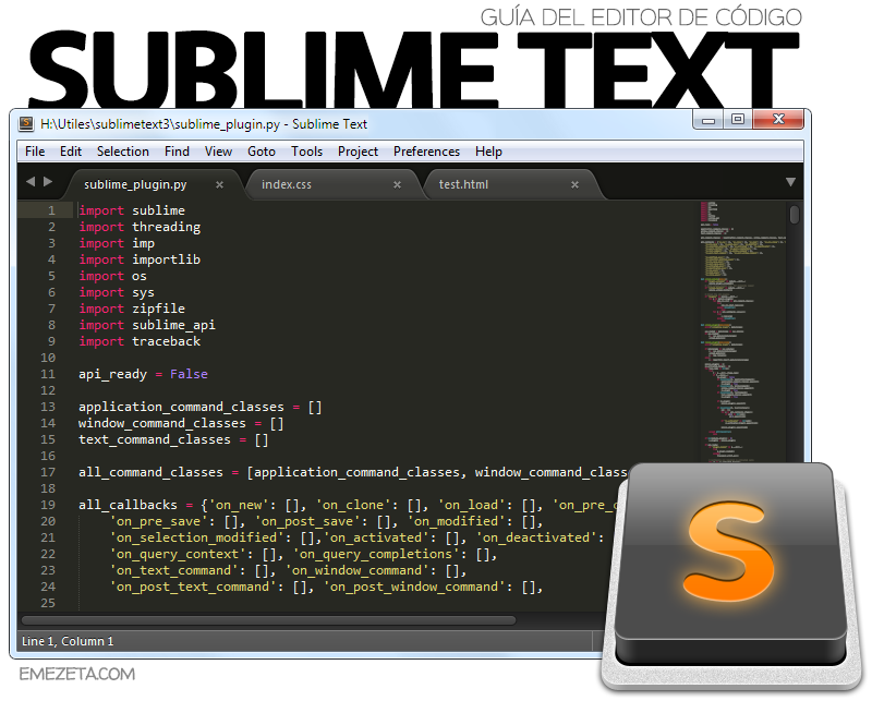 Editor de código Sublime Text